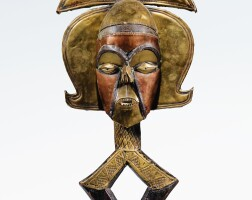 52. figure de reliquaire janus, kota ndassa, gabon |