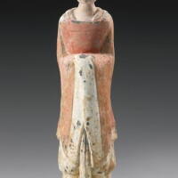 17. a painted pottery figure of an official northern wei dynasty