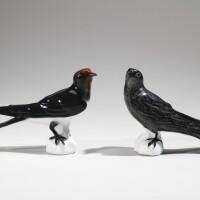 16. an assembled pair of meissen figures of swallows circa 1732-35