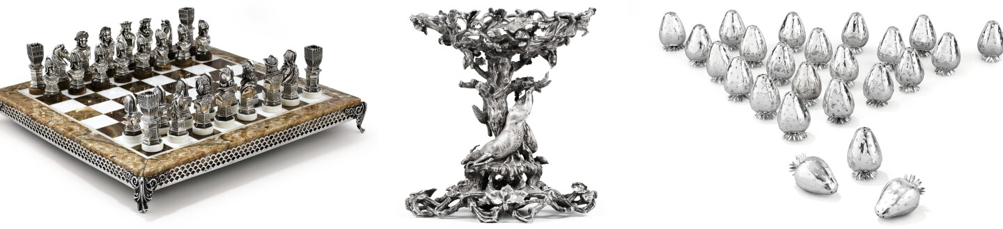 A Georgian silver plate in an auction selling antique silver