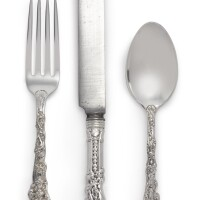 44. an american silver versailles pattern flatware service, gorham mfg. co., providence, ri, late 19th century  
