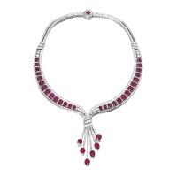 1614. 紅寶石配鑽石項鏈