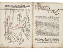 26. muhammad ibn ahmad ibn 'amid al-din 'ali al-husayni al-najafi al-nasabah, kitab bahr al-ansab al-musamma bi'l-mushajjar al-kashshaf li-usul al-sadah al-ashraf, a genealogy of the prophet, egypt, ottoman, dated 1054 ah/1644 ad |