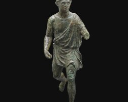 14. a bronze figure of a fisherman, late hellenistic, circa 1st century b.c. | a bronze figure of a fisherman
