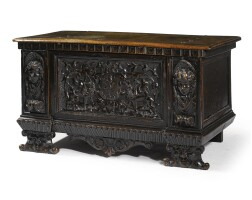 14. an italian carved walnut cassone 17th century and later