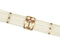 12. enamel and diamond necklace, carl gustaf hallberg, 1908