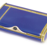 4. a fabergé gilded silver and gold-mounted transparent enamel cigarette case, workmaster august hollming, st. petersburg, 1908-1917