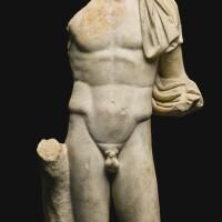 22. a roman marble torso of hermes, circa 2nd century a.d. | a roman marble torso of hermes