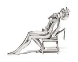 188. ernest trova (1927 - 2009) | study/falling man (seated figure i), 1986
