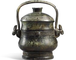 113. a rare archaic bronze 'tapir' ritual vessel and cover, you early western zhou dynasty |