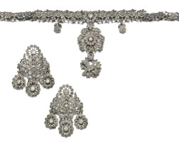 11. ruby and diamond demi parure, late 18th century, possibly iberian