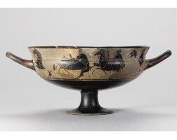 31. an attic black-figured siana cup, attributed to the heidelberg painter, circa 560-550 b.c.