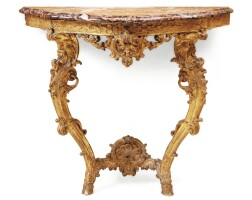 3. a french régence carved giltwood console, vers 1720 |