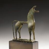 3. a greek bronze figure of a horse, geometric period, circa 8th century b.c.