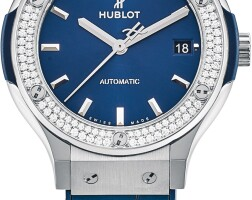 116. hublot   classic fusion, reference 565.nx.7170.lr.1104 a titanium and diamond-set wristwatch with date, circa 2019