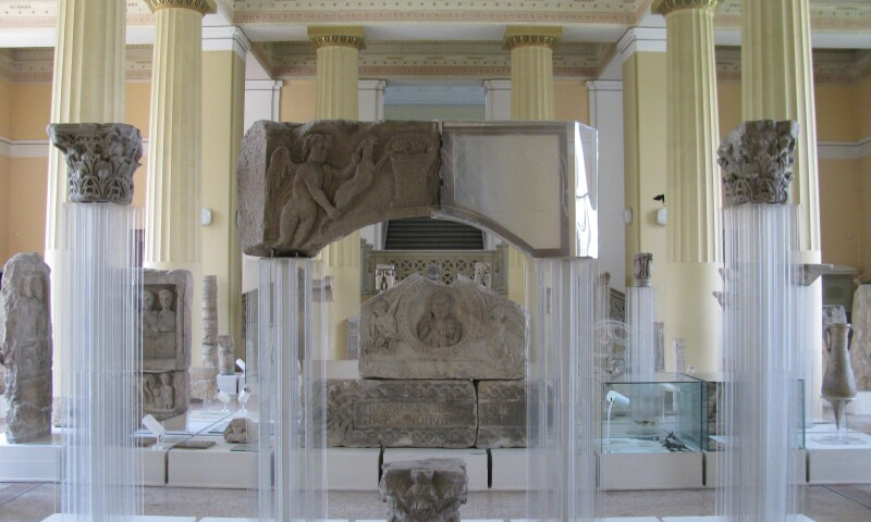 Interior view of the National Museum of Bosnia and Herzegovina.