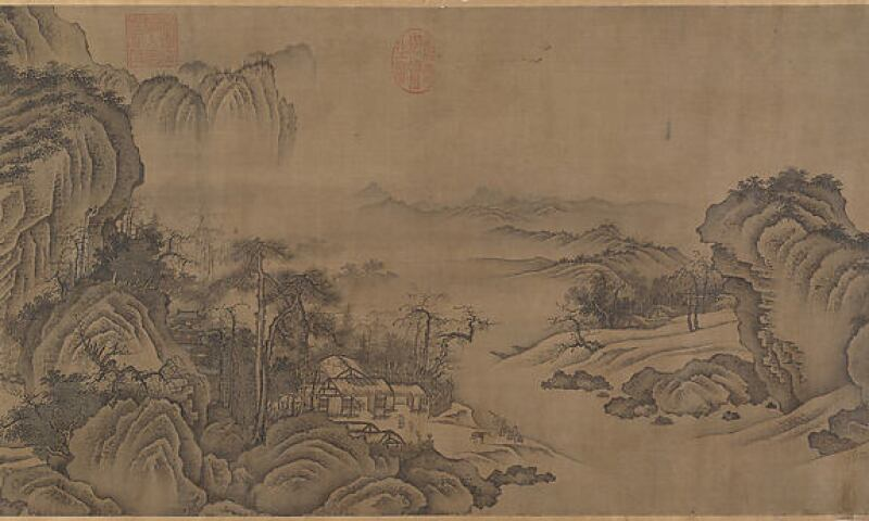 Buddhist Temples amid Autumn Mountains
