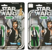 26. two star wars han solo '12-back' action figures, 1978