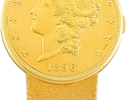 133. audemars piguet | a yellow gold twenty dollar coin watch, circa 1980