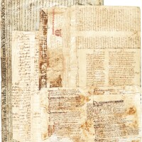 41. binding fragments, in latin, italian, and german [italy and germany, 14th and 15th centuries]