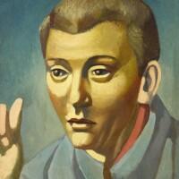28. antoine malliarakis mayo | portrait d'homme (années trente) (portrait of a man - nineteen-thirties)