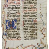 3. st andrew, historiated initial on a leaf from a missal, in latin [italy, umbria, c.1320-30]