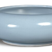 7. a fine 'clair-de-lune' glazed brush washer kangxi mark and period