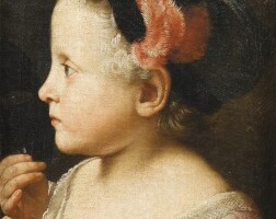 1. attributed to sebastiano ceccarinifano 1703 - 1783 | portrait of a young girl holding a mask