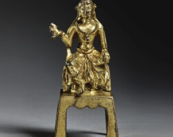 11. a small gilt-bronze figure of avalokiteshvara tang dynasty |