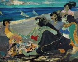 1112. 亨德拉·古拿溫 | 海灘邊的女子與小孩