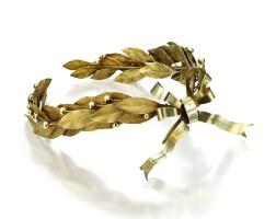 28. silver-gilt laurel wreath of honor
