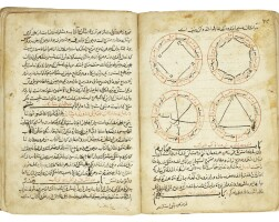 11. two rare works on astronomy in one volume: kitab mafatih al-qada ('keys of solution'), dated 694 ah/1294-95 ad; abu'l-hasan kushyar ibn labban al-jabali (d. circa 1030 ad), majma' al-usul fi ahkam al-nujum, persia,dated 695 ah/1295-96 ad |