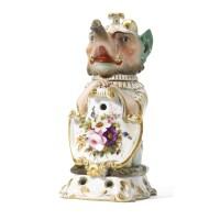 610. a porcelain tea pot and stand, imperial porcelain manufactory, period of nicholas i (1825-1855)