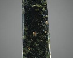 45. hache en jade, yue période néolithique, ca. 3000-2000 avant j.-c.