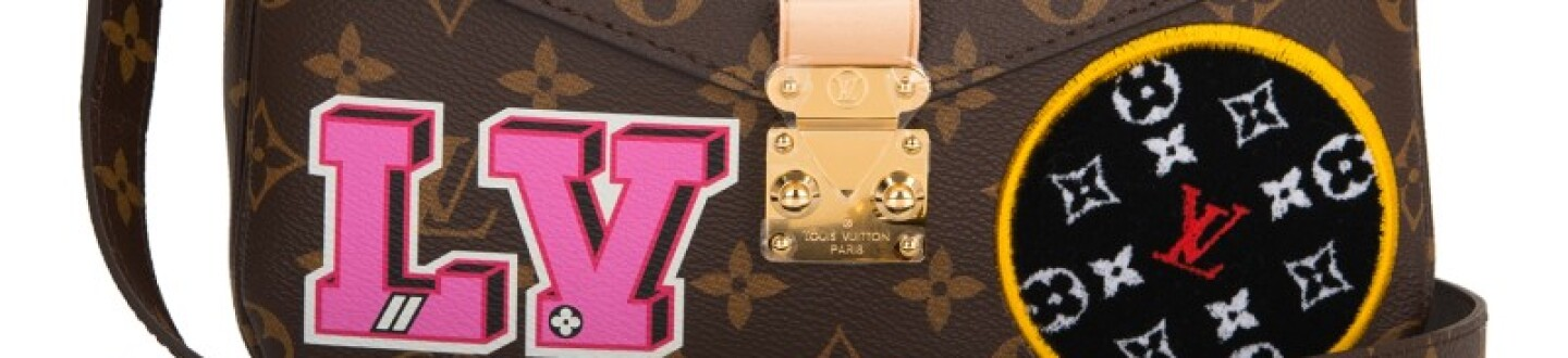Louis Vuitton Monogram Patches Bag in an auction selling luxury bags