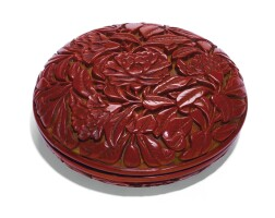 22. a cinnabar lacquer seal paste box and cover ming dynasty, yongle period