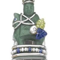38. gem-set and cultured pearl 'chessmen' brooch, seaman schepps