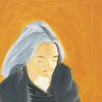 17. alex katz (b. 1927) | 艾達(橙色)