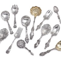 37. a group of american silver servers, circa 1900  