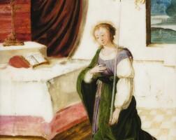 30. flemish school, 17th century | a female saint praying before analtar