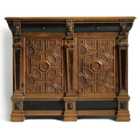 10. a dutch oak and ebonised cupboard 17th century and later