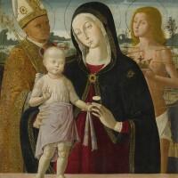 110. bernardino fungai | madonna and child with saint anselm and saint sebastian