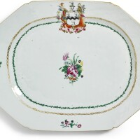 301. a chinese export armorial platter, qing dynasty, qianlong period, circa 1775 |