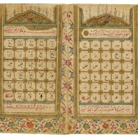 23. an alif-ba mufredat, copied by mahmud al-raci student of mustafa kutahi, turkey, ottoman, dated 1198 ah/1783-84 ad |
