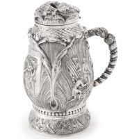 12. a continental silver tankard-form charity box for a burial society