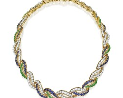 2. diamond, sapphire and emerald necklace, france