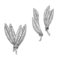 1. three diamond brooches, early 20th century