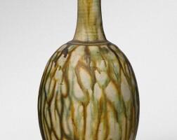 2. a sancai-glazed pottery bottle vase tang dynasty