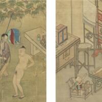 497. twenty-nine erotic paintings qing dynasty, 18th/19th century