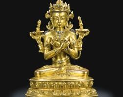 44. a gilt-bronze figure of vajradhara tibet, 15th/16th century